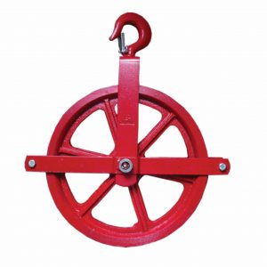 Red Scaffold Pulley
